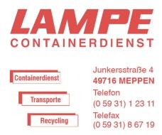 Lampe Containerdienst